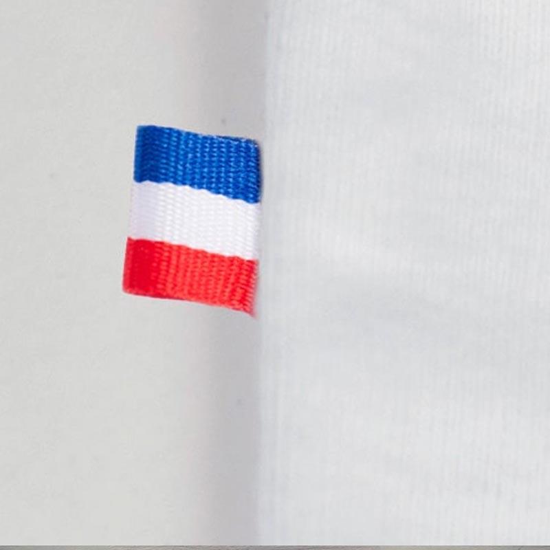tshirt coton bio papate detail drapeau