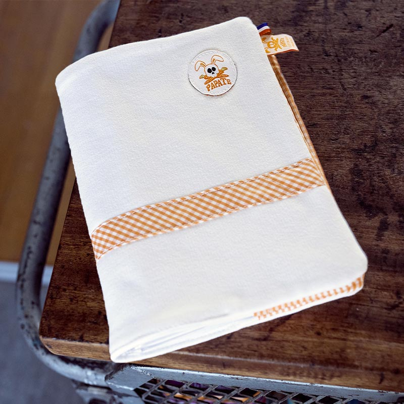 Protege carnet de sante coton bio papate