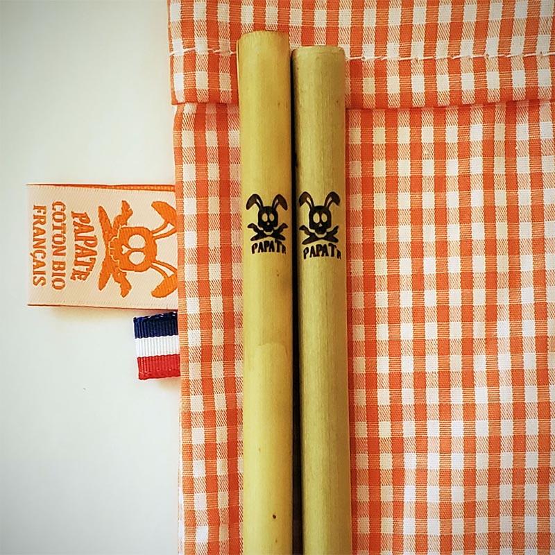 Pailles en bambou papate