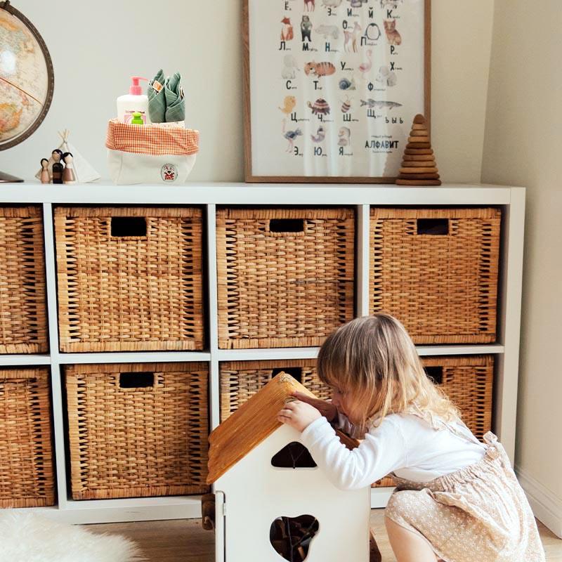 Chambre enfant avec panier coton bio PaPate pour langer