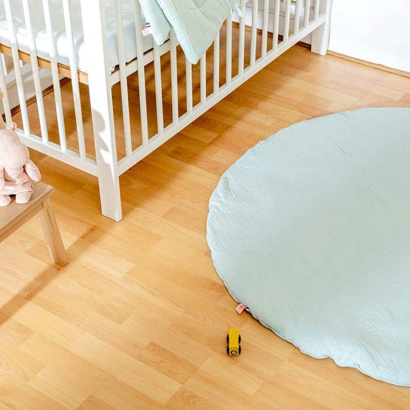 tapis eveil papate vert celadon jouets chambre enfant bio made in france