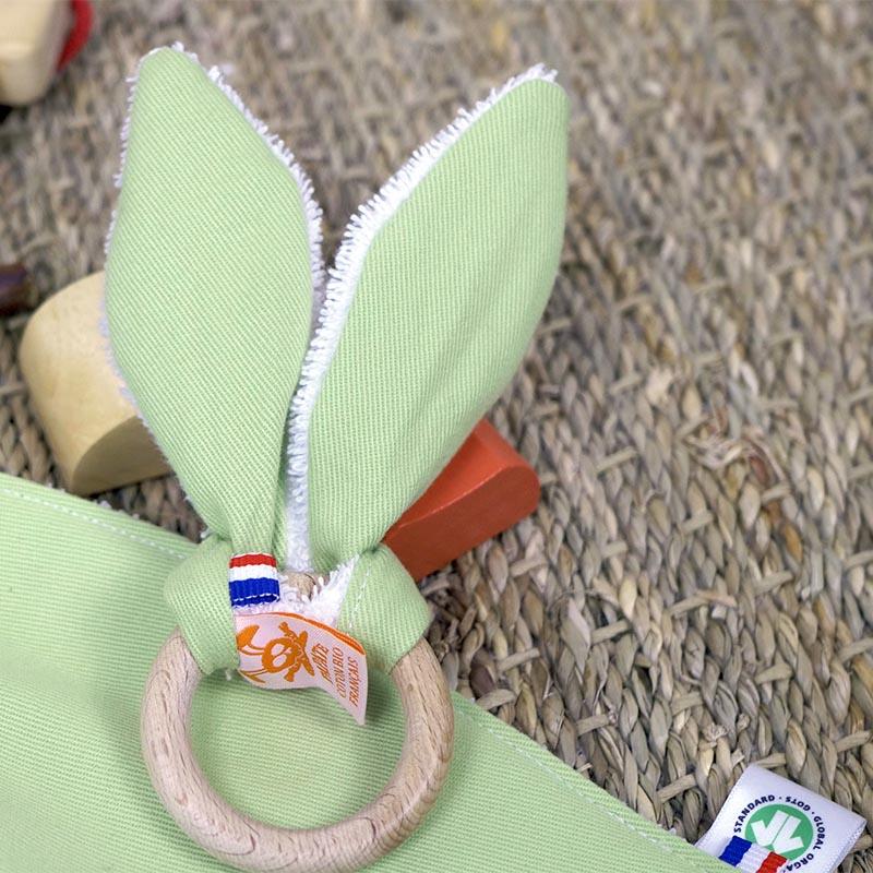 anneau dentition oreilles papate gots coton bio pour bebe papate