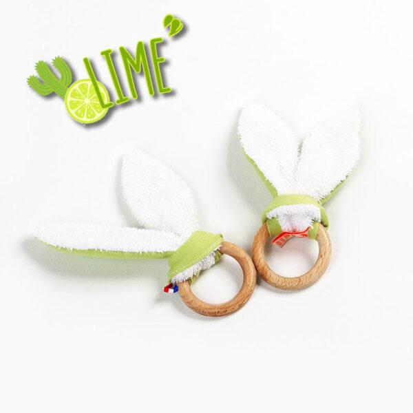 anneau dentition en bois pefc et oreilles bio made in france papate