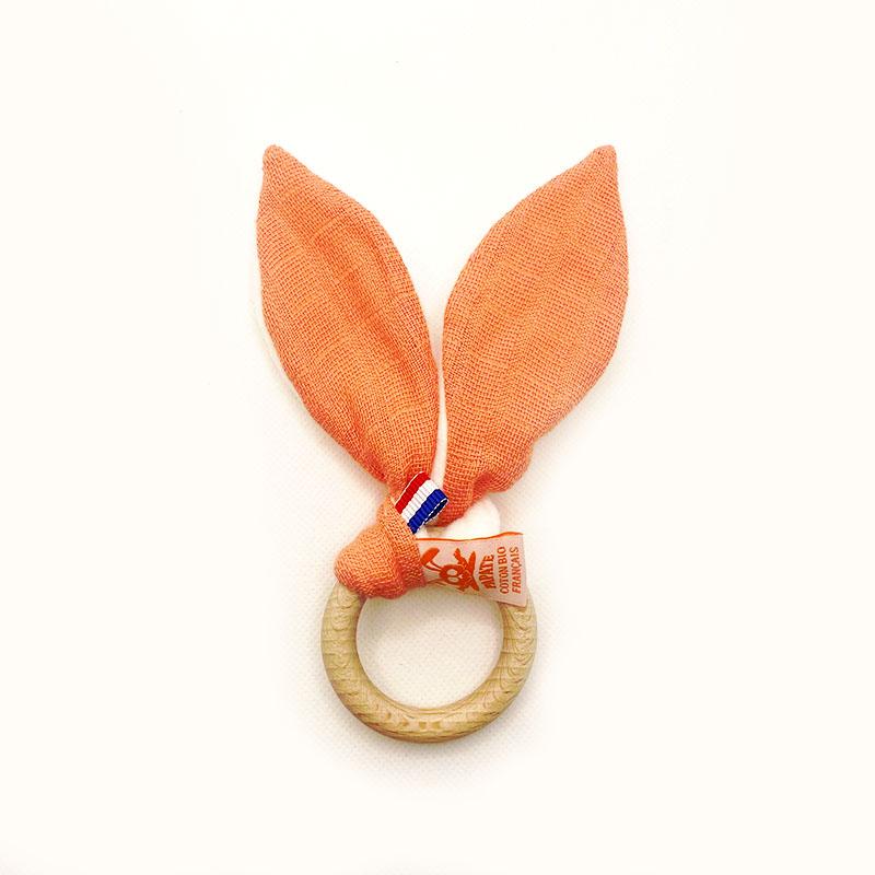 anneau dentition orange coton bio gots papate
