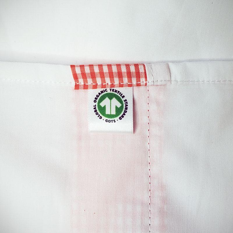 drap plat bebe en coton bio papate blanc popeline gots