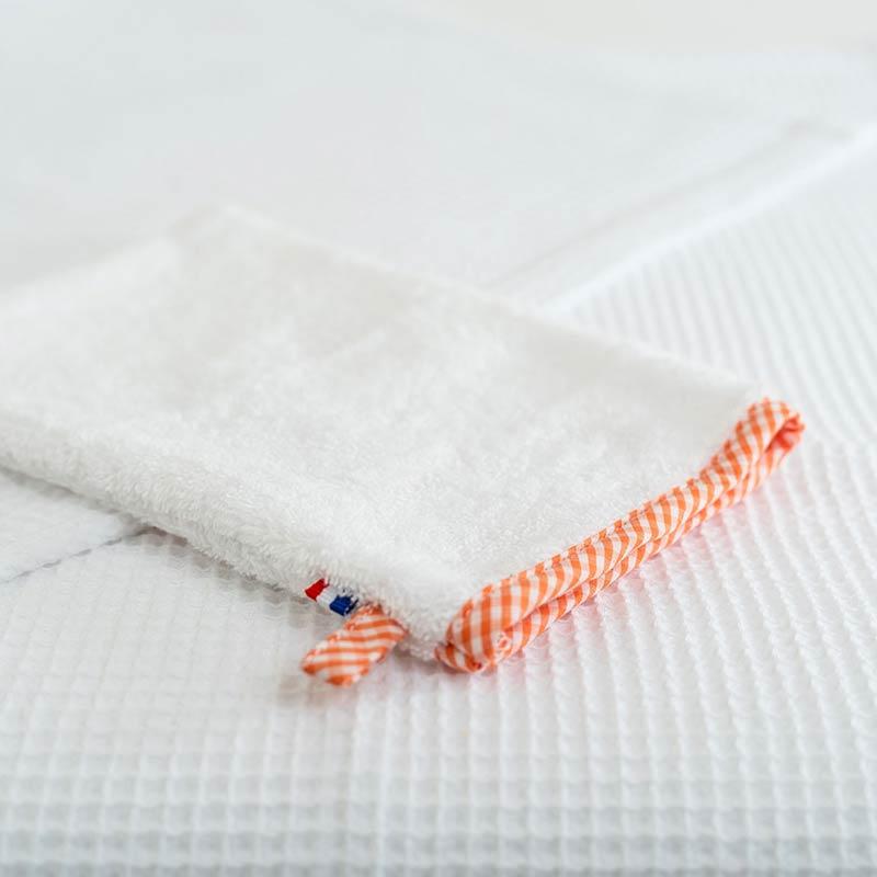 gant de toilette en coton bio papate bebe france puericulture