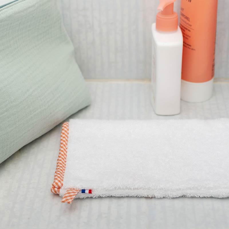 gant de toilette en coton bio papate bebe france