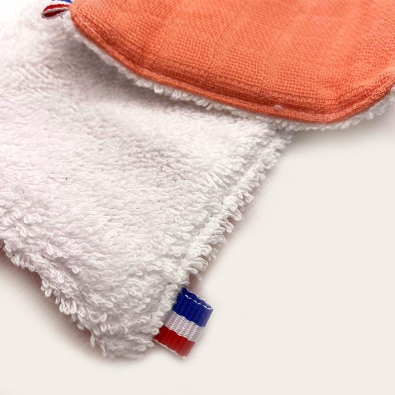 lingettes lavables electric summer eponge de coton bio made in france papate