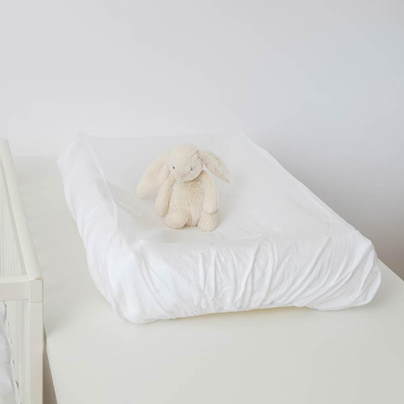 housse matelas a langer coton bio papate blanc bebe