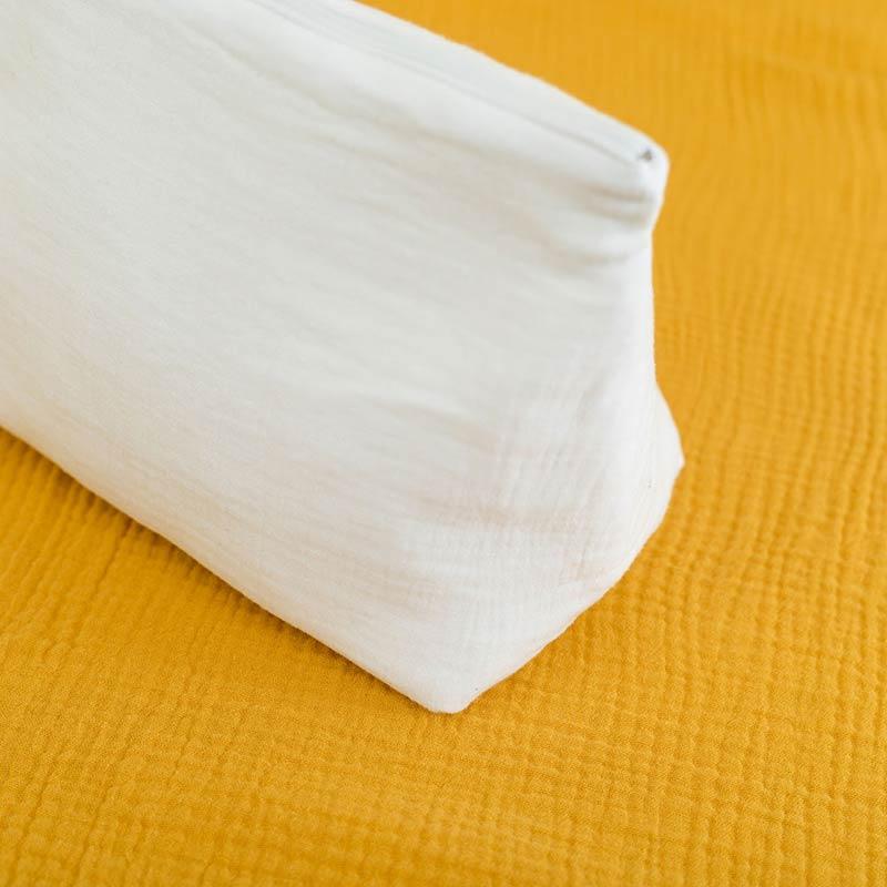 trousse de toilette bebe coton bio papate blanc gots