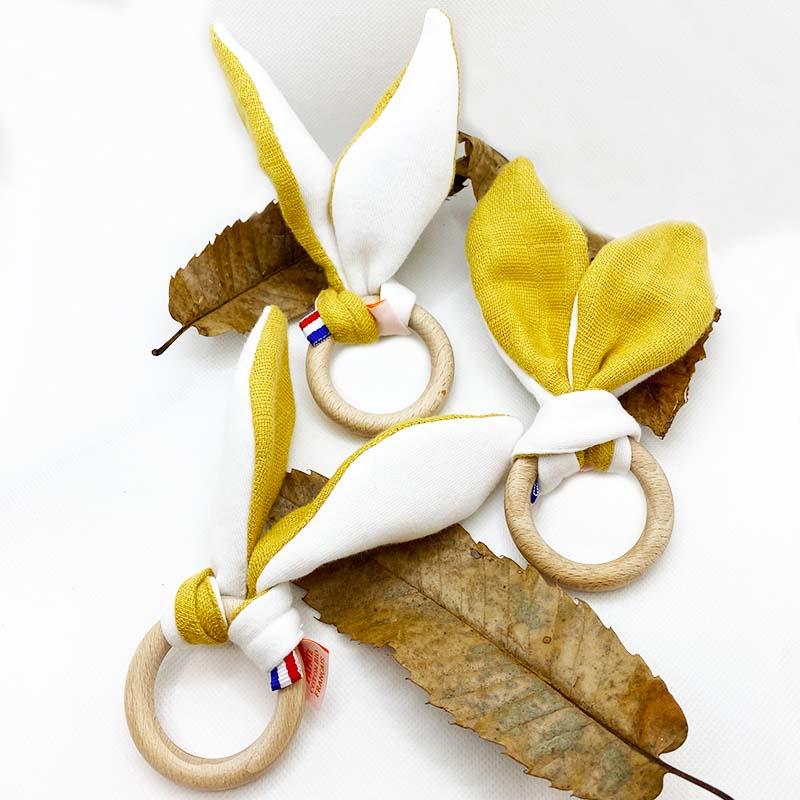 anneau de dentition en coton bio automne honey papate