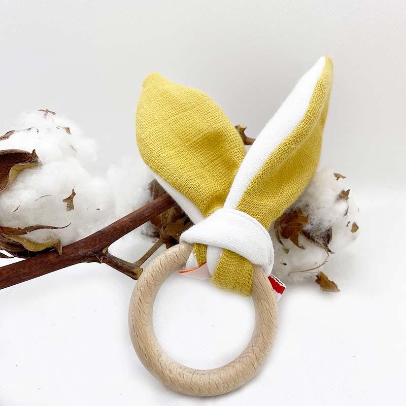 anneau de dentition en coton bio honey automne papate