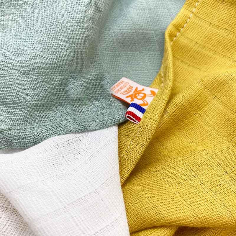 lange honey blanc vert automne coton bio made in france