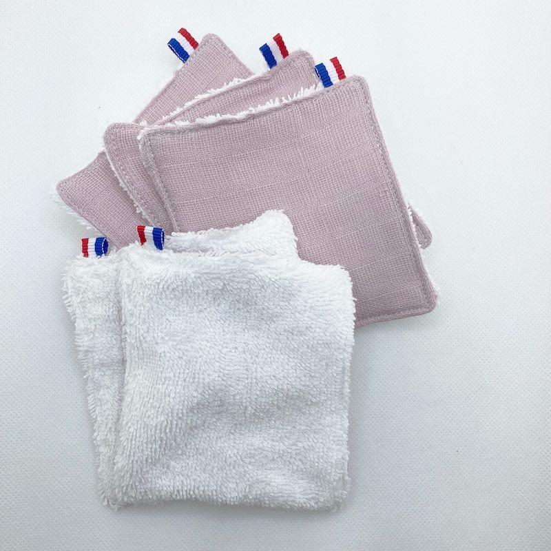 lingette en coton bio rose papate bebe