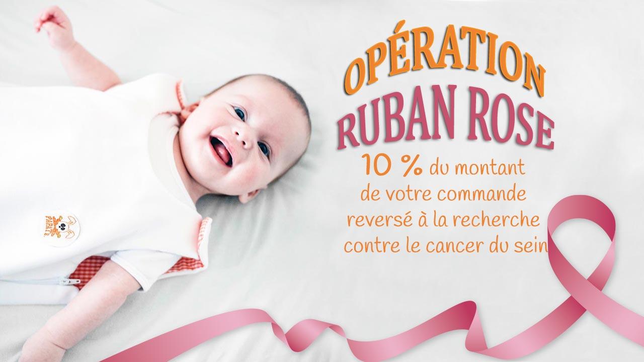 operation pink coton bio papate ruban rose