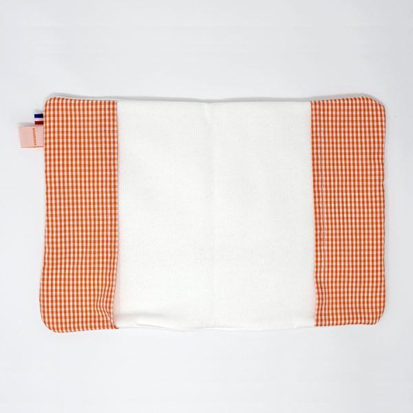 Protege carnet de sante orange blanc bio papate