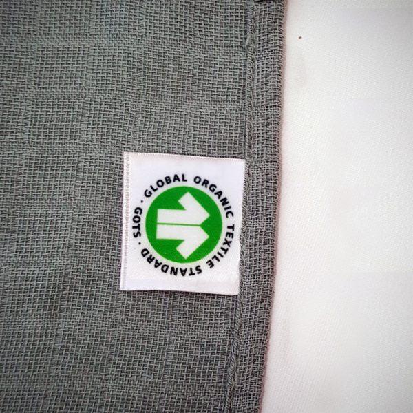 langes vertes papate logo GOTS Made in france