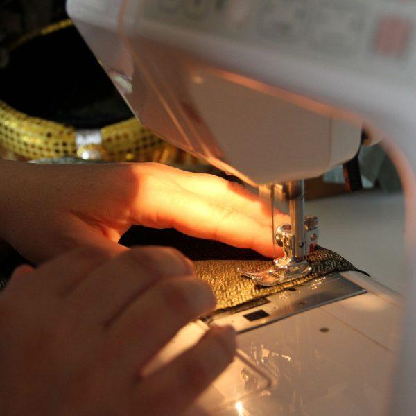 machine a coudre cape de bain coton bio papate lapin